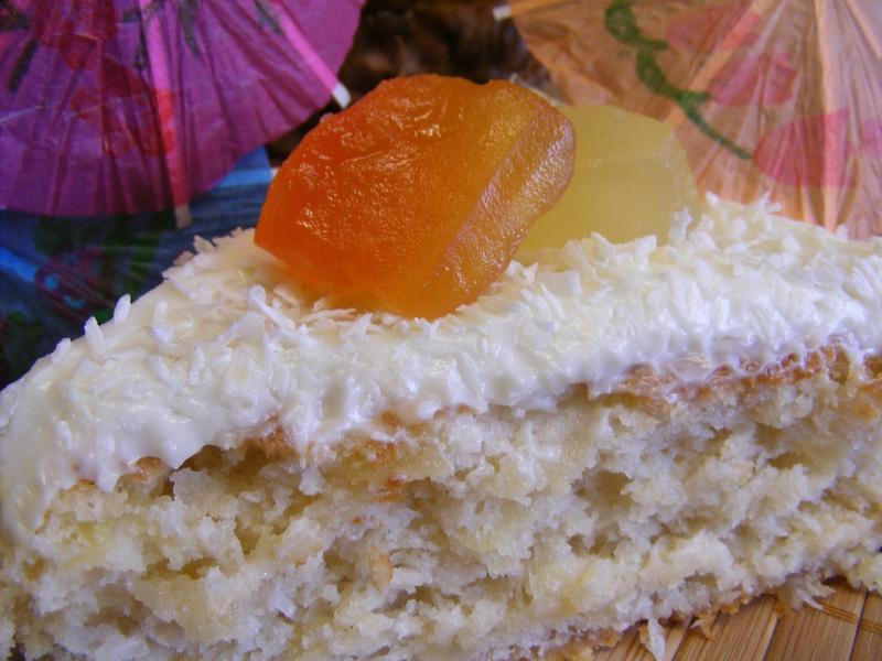 Hawaiian Wedding Cake.Fat Free Hawaiian Wedding Cake